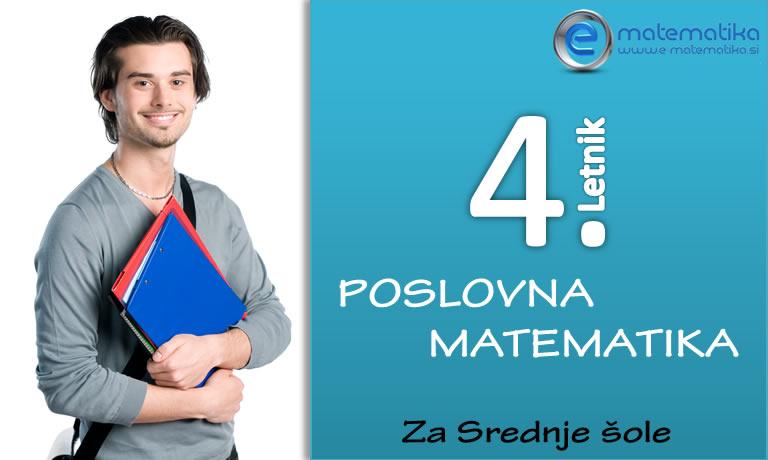 4 Letnik Poslovna matematika za Srednje šole